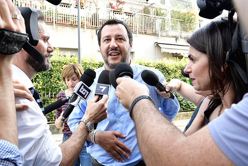 Parteichef der Lega Nord Matteo Salvini