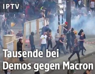 Demonstration in Frankreich
