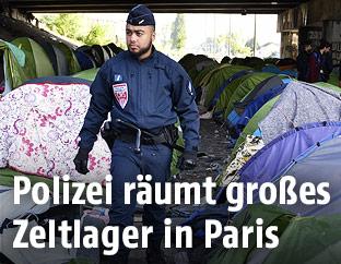 Polizist in Zeltlager
