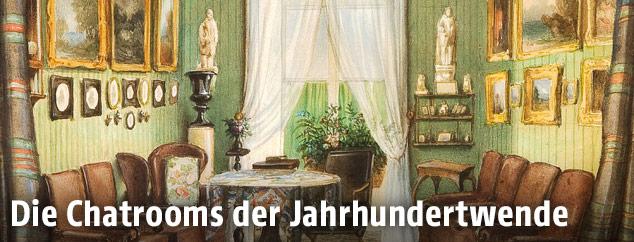 Gemälde des Salon Fanny von Arnstein am Hohen Markt
