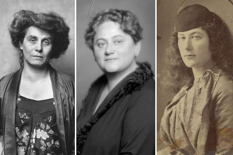 Montage dreier Porträts von Berta Zuckerkandl, Eugenie Schwarzwald und Franziska von Wertheimstein