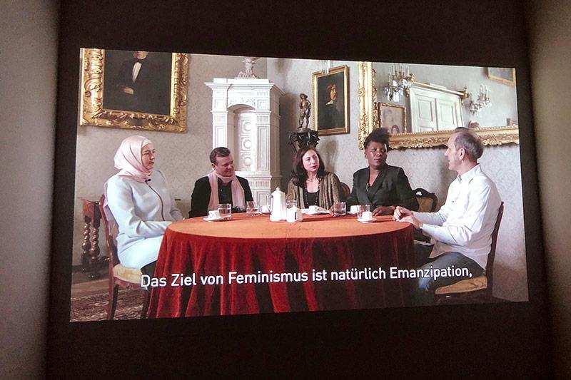 Videoausschnitt einer Diskussion
