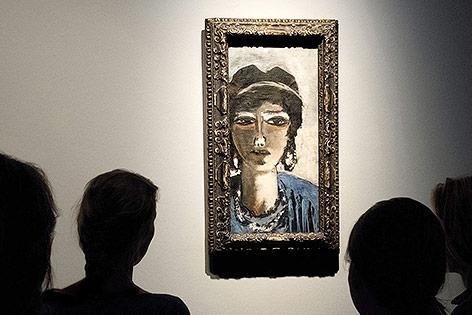 """Ausstellungsraum mit Beckmanns """"Ägypterin"""""""