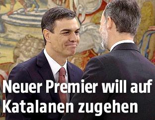Regierungschef Pedro Sanchez und Spaniens König Felipe