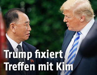 Nordkoreas Unterhändler Kim Yong Chol und US-Präsident Donald Trump