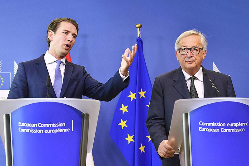 Sebastian Kurz und Jean-Claude Juncker