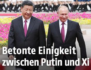 Chinas Präsident Xi Jinping und Russlands Präsident Vladimir Putin