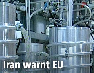 Innenansicht der Urananreicherungsanlage in Natanz