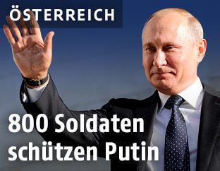 Russlands Präsident Wladimir Putin winkt