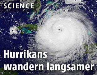 Satellitenaufnahme eines Hurrikans
