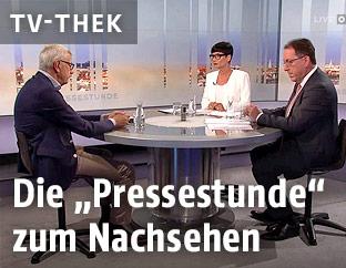 Klubobmann der Liste Pilz, Bruno Rossmann, Ulla Kramar-Schmid und Andreas Koller in der Pressestunde