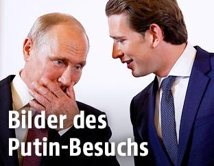 Russlands Präsident Wladimir Putin und Bundeskanzler Sebastian Kurz