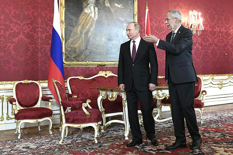 Der russische Präsident Wladimir Putin und Bundespräsident Alexander Van der Bellen