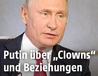Russlands Präsident Wladimir Putin im Interview mit Armin Wolf