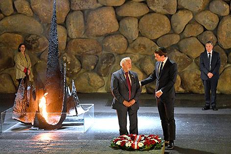 Bundeskanzler Sebastian Kurz beim Besuch der Holocaust-Gedenkstätte Yad Vashem