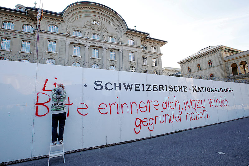 Demo vor Schweizer Nationalbank