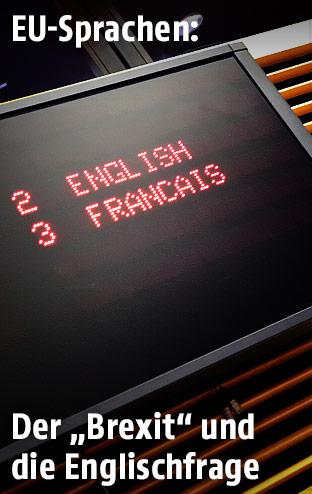 Screen mit Sprachauswahl