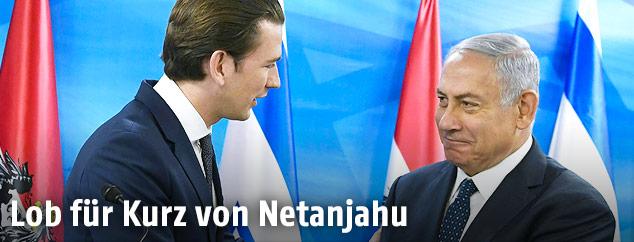 Bundeskanzler Sebastian Kurz und Ministerpräsident Benjamin Netanyahu