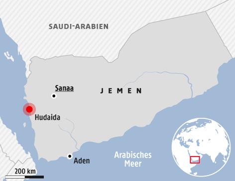 Karte vom Jemen
