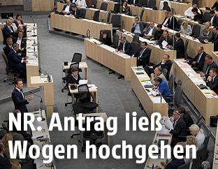 Bundeskanzler Sebastian Kurz im Rahmen einer Sitzung des Nationalrates