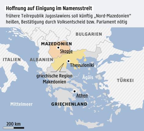 Namensstreit um Mazedonien: Griechenland verkündet Einigung