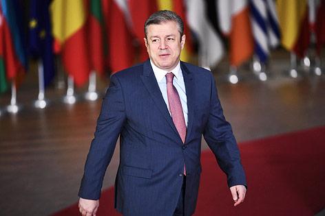 Der georgische Premier Georgi Kwirikaschwili in Brüssel
