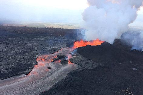 Ausbruch des Vulkans Kilauea auf Hawaii