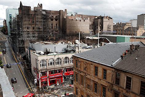 Ausgebrannte Kunsthochschule in Glasgow