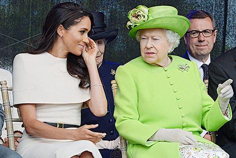 Königin Elizabeth II. und Herzogin Meghan