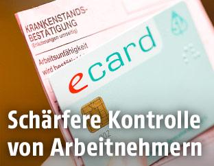 E-Card und Krankenstandsbestätigung