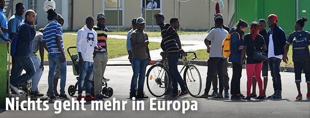 Asylsuchende im Bayerischen Transitzentrum