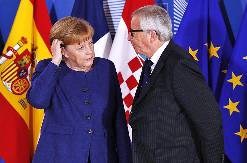 Bundeskanzlerin Angela Merkel und Jean Claude Juncker