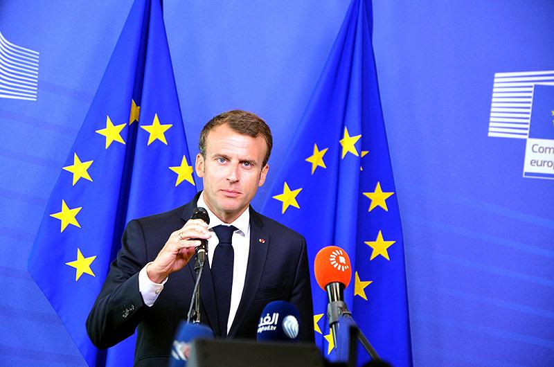 Der fränzösiche Präsident Emmanuel Macron