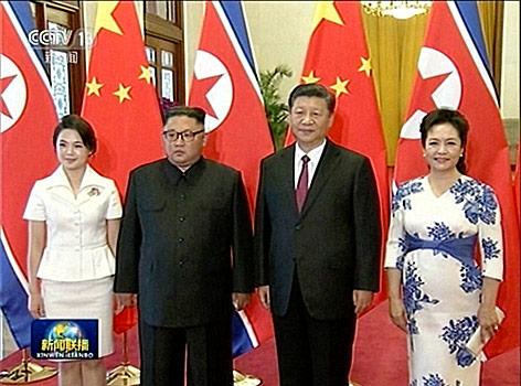 Nordkoreas Machthaber Kim Jong Un und Chinas Präsident Xi Jinping