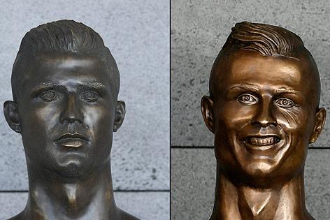 Neue und alte Ronaldo-Büste