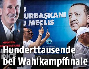 Wahlplakate von Muharrem Ince und Recep Tayyip Erdogan