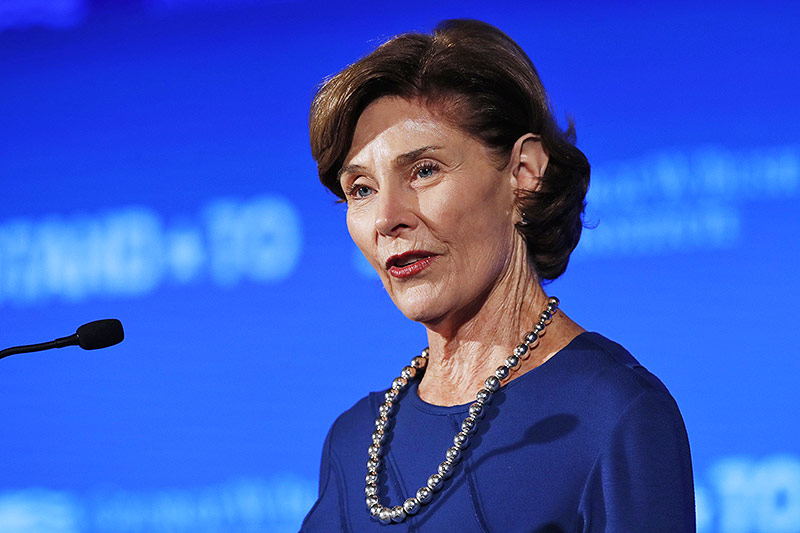 Die ehemalige US-First Lady Laura Bush