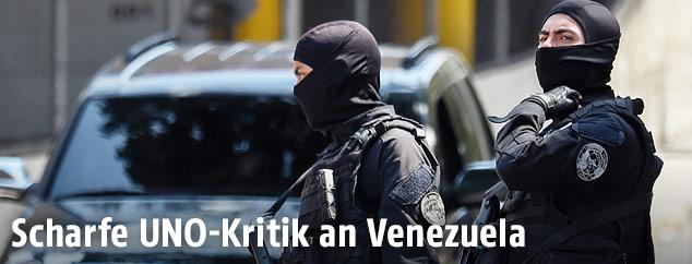 Sicherheitskräfte in Caracas