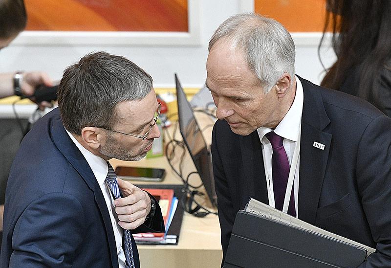 Innenminister Herbert Kickl und Generalsekretär im Innenministerium, Peter Goldgruber