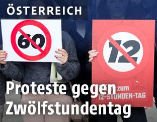 Demonstration gegen Zwölfstundentag