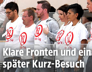 Protest im Nationalrat