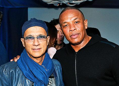 Die Musikproduzenten Jimmy Iovine und Dr. Dre
