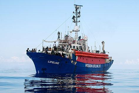 """das deutsche Rettungsschiff """"Lifeline"""""""