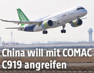 Comac C919 der Luftfahrtgesellschaft Comac