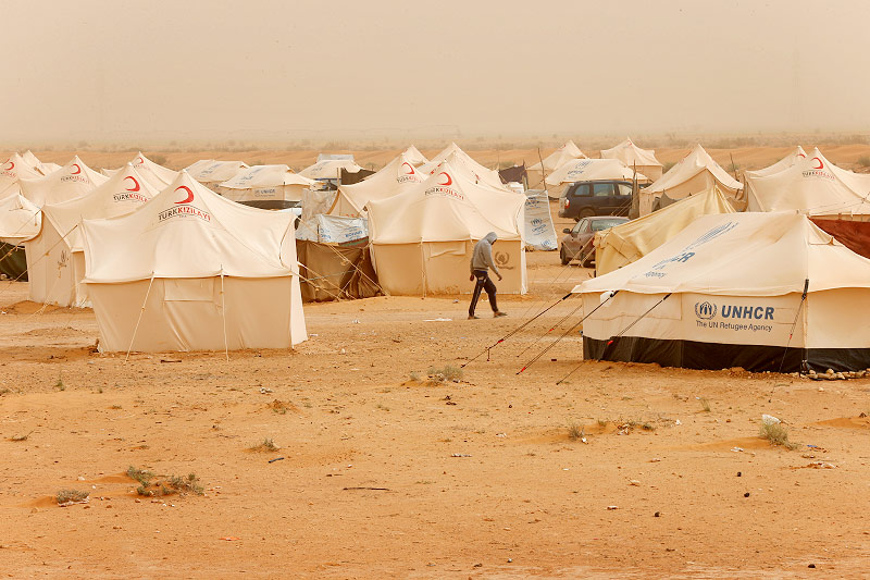 Flüchtlingscamp in Libyen