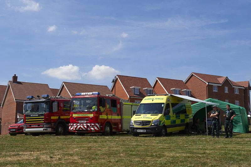 Einsatzkräfte in Salisbury (GB)