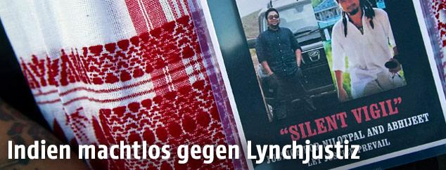 Bilder zweier Männer die Opfer der Lynchjustiz geworden sind