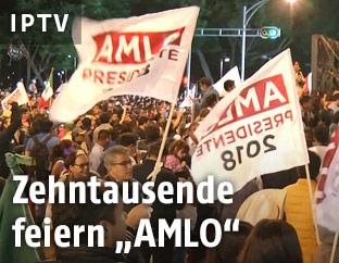 Anhänger des mexikanischen Links-Nationalisten Obrador