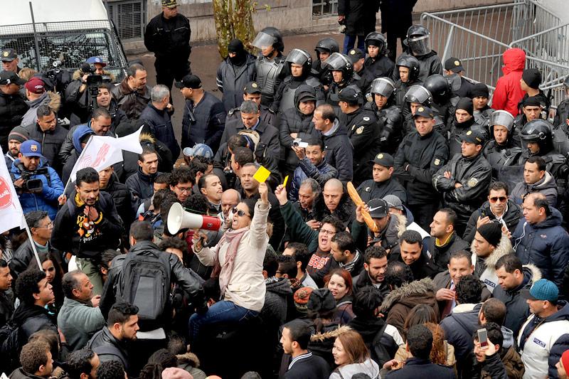 Demonstration in Tunesien