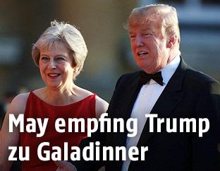 Britische Premierministerin Theresa May und US-Präsident Donald Trump